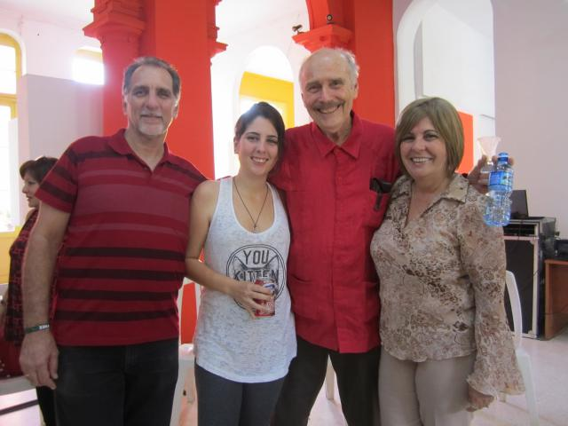 René González of Cuban 5, daughter Yvette, wife Olga, Feb. 2016