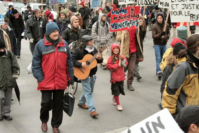in pro-APPO demonstration in Montreal 2006