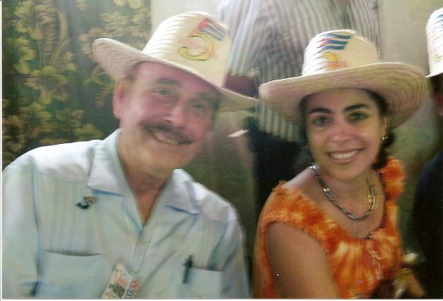 with Adriana Pérez, wife of Gerardo Hernández, Cuba 5