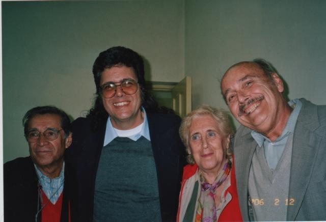 with Víctor Flores Olea, Abel Prieto, Stella Calloni 2006